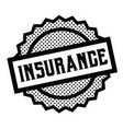 insurance stamp on white vector image vector image