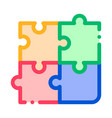 interactive kids game puzzle sign icon vector image vector image