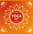 international yoga day on a vector image