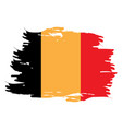 isolated belgian flag vector image vector image