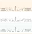 kansas city hand drawn skyline vector image vector image