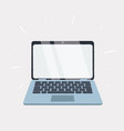 laptop with blank white screen isolated on white vector image