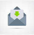 mail trendy social symbol trendy colored vector image