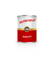 metal can on a white background vector image vector image