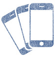 mobile phones fabric textured icon vector image vector image
