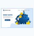 money saving concept with people sitting vector image vector image