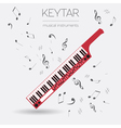 Musical instruments graphic template Keytar vector image