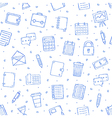 Office work pattern bllue icons vector image