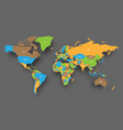 political map of world in four colors of national vector image vector image