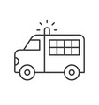 prisoner transport van police related icon vector image
