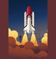 rocket launching into space vector image