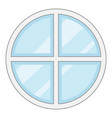 round window frame icon cartoon style vector image