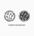 science technology icon on white background vector image