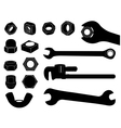 Screw nut and wrench vector image