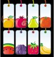 set of fruit tags vector image vector image