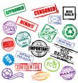 stamp set collection vector image vector image