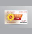 summer gift voucher vector image vector image