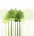 trees 21 vector image vector image