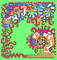 tribal psychedelic ethnic background isolated vector image vector image