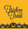 trick or treat typographic poster vector image vector image