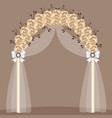 wedding arch with gold roses and bows vector image