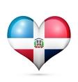 Dominican Republic Heart flag icon vector image
