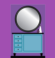 Toilet table with Mirror vector image
