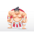 sumo standing in crouch stance vector image