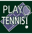 Play tennis vector image