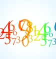 abstract color number background vector image