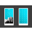 abstract colored background with skyscrapers and vector image vector image