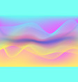 abstract wavy holographic vibrant color background vector image vector image