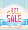 advertisement about the summer sale on background vector image