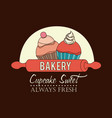 bakery design icom ilstration vector image