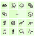 ball icons vector image vector image