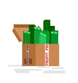 Bank money profit and investment vector image