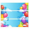 banners with balloons 1 vector image vector image