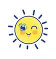 beauty kawaii and funny sun design vector image