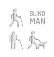 blind man and seeing eye dog vector image vector image