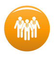 board directors icon orange vector image