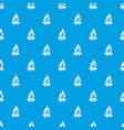bonfire pattern seamless blue vector image vector image