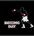 boxing day design with boxing fighter good vector image vector image