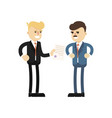business meeting concept with businessmen vector image vector image