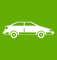 car icon green vector image