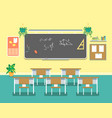 cartoon classroom design interior vector image