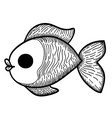 Cartoon Hand Drawn Fish vector image vector image