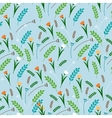 Cartoon style floral seamless pattern vector image