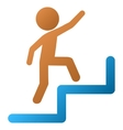 Child Steps Upstairs Gradient Icon vector image