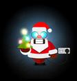 christmas santa claus electric vector image vector image