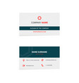 clean business card vector image vector image